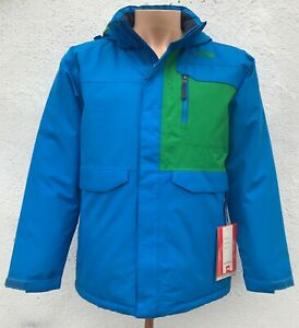 The North Face Boys Waterproof BLUE Insulated Jacket $139 Size: L