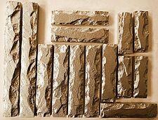 Polyurethane  molds set 14 bricks stone Form Gypsum Tiles Concrete STAMP facing