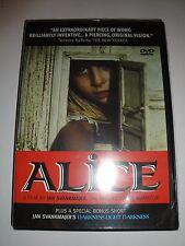 BRAND NEW Alice [DVD] 2000 Film Jan Svankmajer Czech Surreal Animation FRF OOP