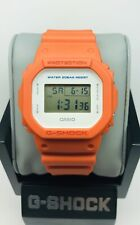 Casio G-Shock Orange White DW-5600M-4 Limited Edition Military Colors 5600