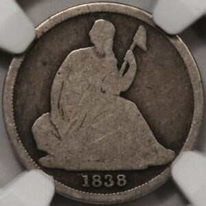 1838-O Seated Liberty Dime NGC & CAC AG-3 - Lowest Known CAC For This Date?