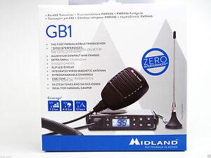 Midland GB1 PMR446 UHF Mobile Radio with Magnetic Antenna