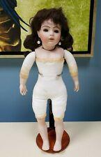 """Artist Signed Bru Jne 10 Reproduction Antique Porcelain Doll 16"""""""