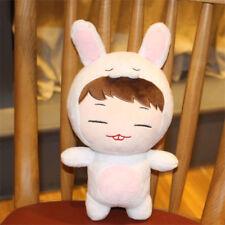 "KPOP IKON Bobby White Rabbit 8"" Plush Toy Stuffed Doll Fan Goods Cute Gift Toy"