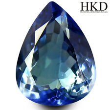 1.86 ct HKD Certified Pear Shape (9 x 7 mm) Bluish Violet Tanzanite AAA