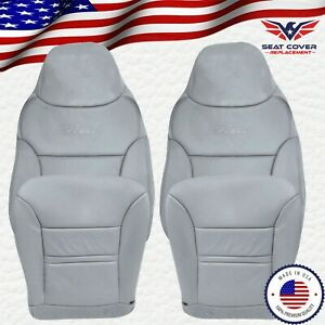 2000 2001 Ford Excursion Limited XLT Leather Replacement Seat Covers in Gray