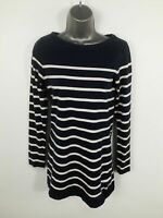 WOMENS FAT FACE BLUE STRIPED CREW NECK LONG SLEEVE SHIRT TOP CASUAL SIZE UK 8