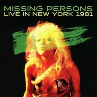 Missing Persons - Live In New York 1981 (2017)  CD  NEW/SEALED  SPEEDYPOST