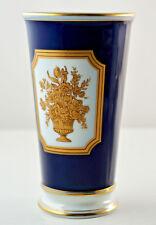 """Heinrich Porzellan Classic, Höchst Vase """"Mainau"""" Echt Kobalt, H.16,5 cm. (3N65)"""