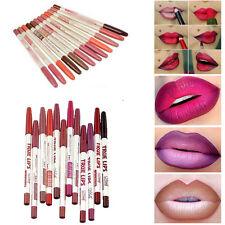 12 Colors Lipliner Waterproof Lip Liner Pencil Makeup Set Beauty Lot Wholesale