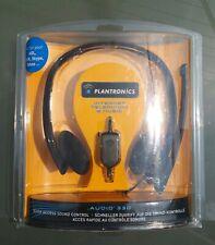 Plantronics Audio 330 Stereo USB Headphones. Black. Brand New!