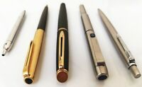 Lot of 5 Vintage Parker Aurora  Waterman Pens Fountain Ballpoint & Rollerball