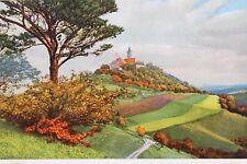 27444 Photochromie Ak Leuchtenburg Seitenroda Landpost Timbro Gompitz Dresda
