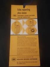 LIBRO vintage pubblicità etichetta oggetti effimeri fishmaster ECHO SOUNDER FISH FINDER