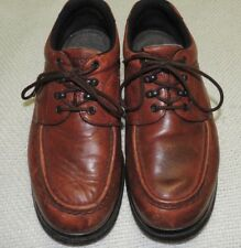 RED WING MEN'S CORDOVAN LEATHER LACE UP SHOES SIZE 9.5 D VERY GOOD CONDITION