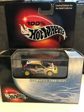 Hot Wheels 100% Black Box Yellow Ford Focus Tuner
