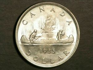 CANADA 1935 1 Dollar Jubilee Silver Crown Choice BU