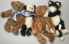 New ListingLot Miniature Ganz Cottage Collectibles Plush Stuffed Teddy Bears Panda Cat 7�