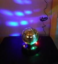drehbare Discokugel Spiegelkugel 4 bunte LED (Neu) Party Lampe Partybeleuchtung
