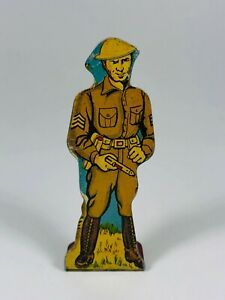 Infantry Sergeant #10 Vintage Marx Toy Lithograph Tin U.S. Army Soldier Litho