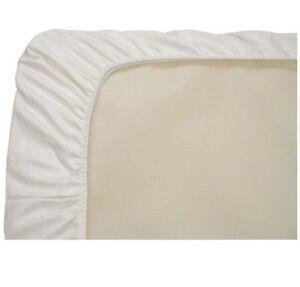 Naturepedic Organic Cotton Fitted White Crib Sheet