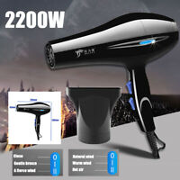 2200W Hair Blow Dryer Heat Blower with Nozzle Home Salon Beauty Hairstyling Tool