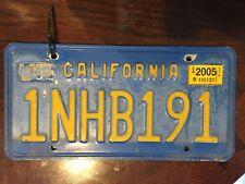 DMV CLEARED California License Plate 1nhb191 tag identification auto pair