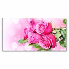 Rose QUADRO MODERNO STAMPA TELA FIORI ASTRATTO ROSA FLOWER SALOTTO CASA ARREDO