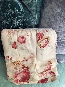 Waverly Norfolk Rose Floral Vintage Roses Ruffled FULL DOUBLE Bedskirt NEW