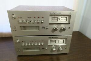 Lot of 2 Vintage J.C. Penney Stereo 8 Track Tape Deck Player Recorder Model 3331