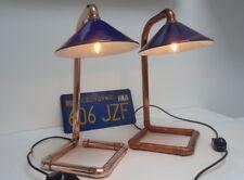 Desk Bedside Lamp Industrial Machine Factory Vintage Retro style Copper & dimmer