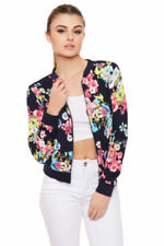 Regular Size Polyester Floral Coats & Jackets for Women