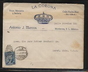 Mexico  La  Corona   ad  cover to  US            HR0415