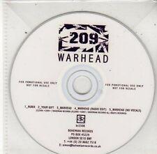 (BY746) 209, Warhead - DJ CD