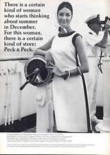 1965 Peck & Peck Fashion Dress PRINT AD Ship theme
