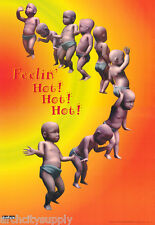 POSTER: COMICAL: FEELIN' HOT ! HOT ! HOT ! - BABIES DANCING  #3180 RAP19 A