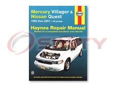 Nissan Quest Haynes Repair Manual GLE XE SE GXE Shop Service Garage Book iz