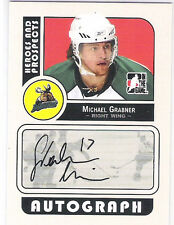MICHAEL GRABNER 2008 ITG HEROES & PROSPECTS CERTIFIED AUTOGRAPH - R00KIE