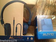 Auvio Portable Bluetooth Speaker with Headphones Blue NEW SEALED