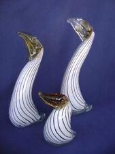 "Vintage MURANO Venitian Art Glass Family Birds Toucans Figurines (3) 5"" to 11"""