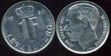 LUXEMBOURG  1 franc  1990