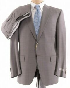 Canali NWT Suit Size 46R In Light Brown W/ Fine Gray Pinstripe Wool $1,895