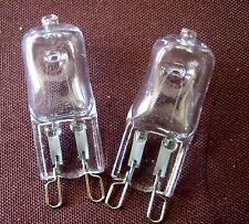 Deux  G9 Ampoule Halogène Lampe Blanc Chaud 40 W Transparent