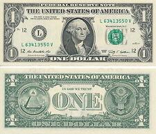 USD 1 Dollar Schein aus 2013 neu und unzirkuliert