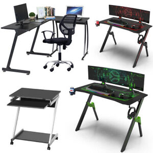 Gaming Desk Home Office Laptop PC Computer Desk Writing Corner Table Workstation