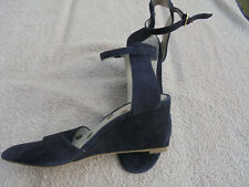 BODEN sandals size 4==37 BLUE SUEDE WEDGE SANDALS