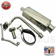 QMB139 49cc 50cc, 4-stroke Performance Exhaust Scooter - Oval Exhaust (HS190-47)