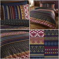 Orkney Luxury Indian Ethnic Print Duvet Cover/Quilt Cover Set Bedding Multi