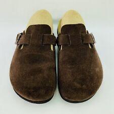 Birkenstock Women's Size 38 / 7 M  Brown Suede Leather Mule Slide Clog Sandals