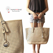 Borsa Shopping Donna Traforata Beige Modello Jet Set DUDLIN Perforated Tote Bag